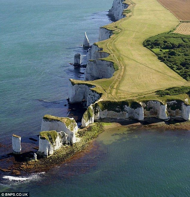 Old Harry Rocks: The Jurassic Coast  in Dorset, England boasts some of the country's most beautiful seaside scenery