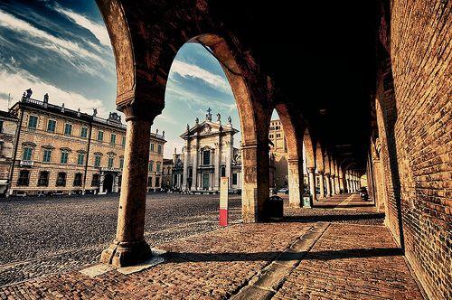 Mantova - Piazza Sordello from Palazzo Ducale