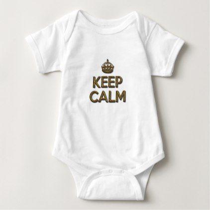 Keep Calm Baby Bodysuit - simple gifts custom gift idea customize
