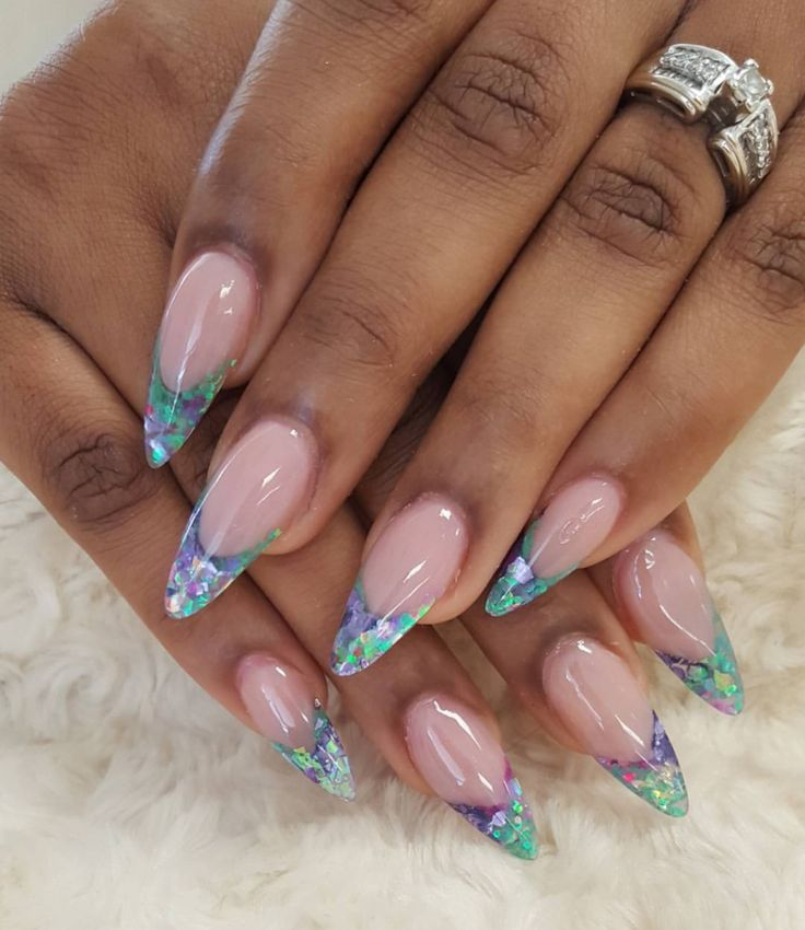 Enjoy summer with encapsulated nails by Sonia @ Angel Nail Spa .