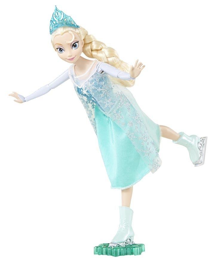 Bind je schaatsen onder en ga schaatsen in het koninkrijk met Elsa uit de Disney-film Frozen! Even een duwtje en Elsa schaatst heen en weer met bewegende armen en benen.  Meisjes kunnen Elsa laten schaatsen zoals in het filmmoment waarin ze het eind van de winter viert. Ze kunnen ook zelf coole avonturen bedenken.  Elsa ziet er fantastisch uit in haar winteroutfit gebaseerd op de film.  Vraag ook naar Schaatsende Anna voor dubbele speelpret! Poppen kunnen niet los staan. Per stuk…