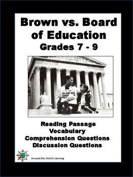 Civil Rights Movement -Brown vs. Board of Education: Readi