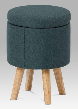 TAB-101 GREY2 Praktický taburet s úložným prostorem bude nejen šikovným, ale také stylovým doplňkem domácnosti. Taburet je posazen na masivních nohách. Vhodný do obýváku, dětského pokoje, předsíně, apod.
