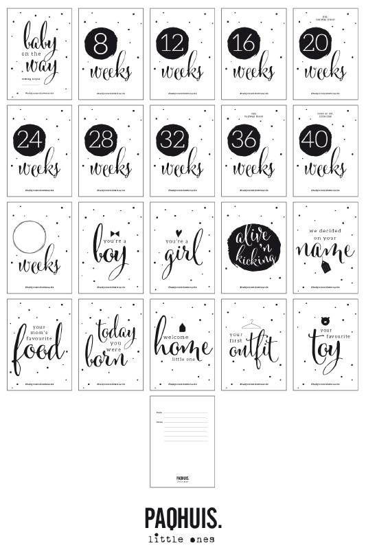 ♥ PAQHUIS Countdown baby cards fotokaarten ♥ Snelle levering ♥ Gratis verzending ♥ Achteraf betalen