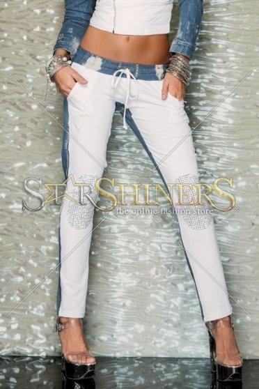 Pantaloni Mexton Pure Vision White
