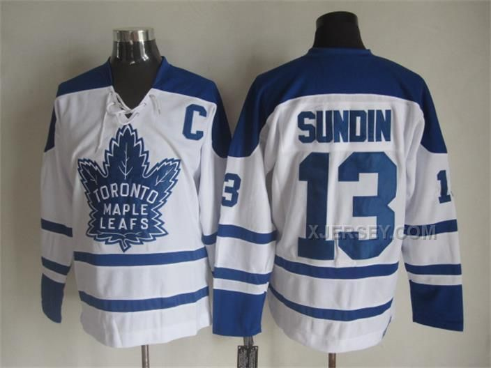 http://www.xjersey.com/maple-leafs-13-mats-sundin-white-ccm-jersey.html MAPLE LEAFS 13 MATS SUNDIN WHITE CCM JERSEY Only $50.00 , Free Shipping!