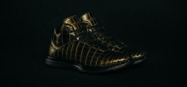 These crocodile- skinned golden shoes are the most expensive sneakers in the world