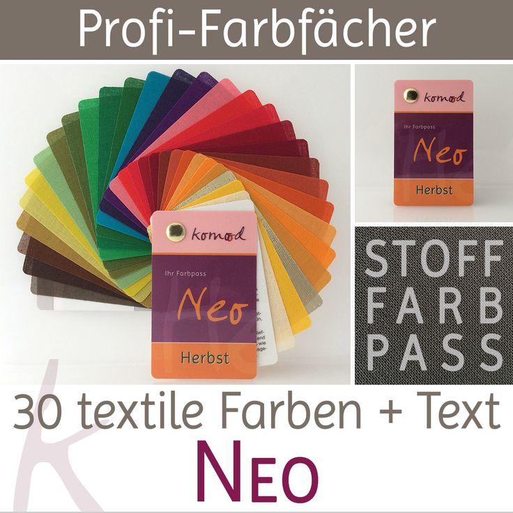 Stoff-Farbfächer / Farbpass Herbst mit 30 Farben - Neo