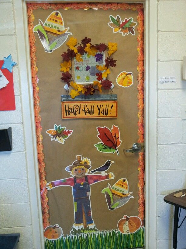 Fall Harvest Classroom Decorations ~ Fall classroom door with ctp s autumn harvest decorator