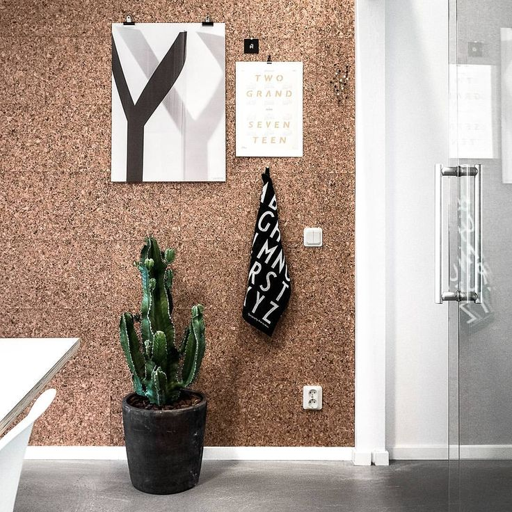 Great looking cork wall. Perfect for moodboards and inspiration!
