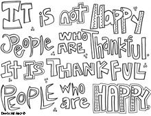 Thanksgiving Quote Coloring Page