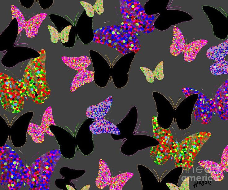 'The Unseen Butterflies' - painting by Alan Hogan. #butterfly #nature #colours #black