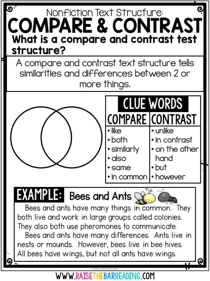 Teaching Students To Comprehend Nonfiction Raise The Bar Reading Reading Comprehension Strategies Teaching Writing Reading Intervention Compare and contrast reading worksheets