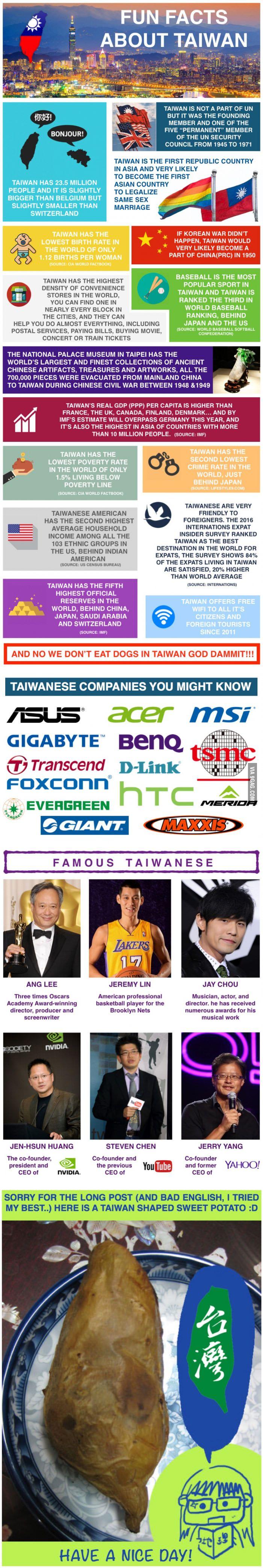 Fun Facts about Taiwan! - 9GAG