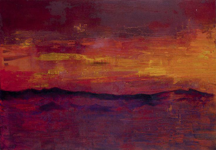 "Saatchi Online Artist: Fabien Bruttin; Mixed Media, Painting ""Mountain 1 """