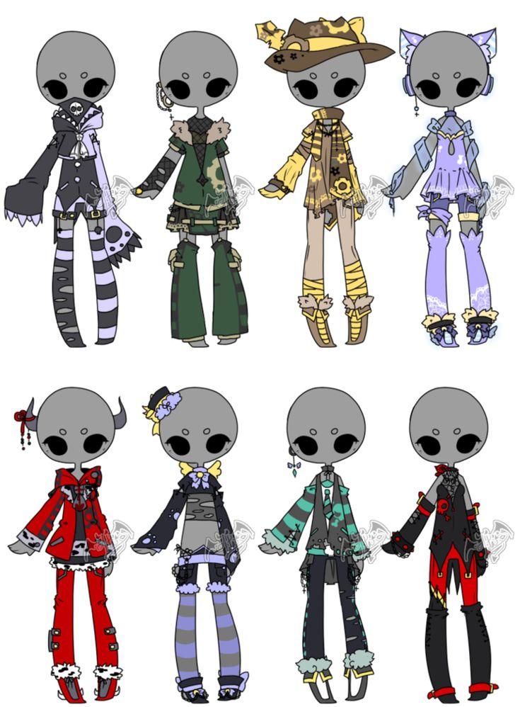 .:Adoptable:. Outfit Batch 07 [1/8] by DevilAdopts.deviantart.com on @DeviantArt