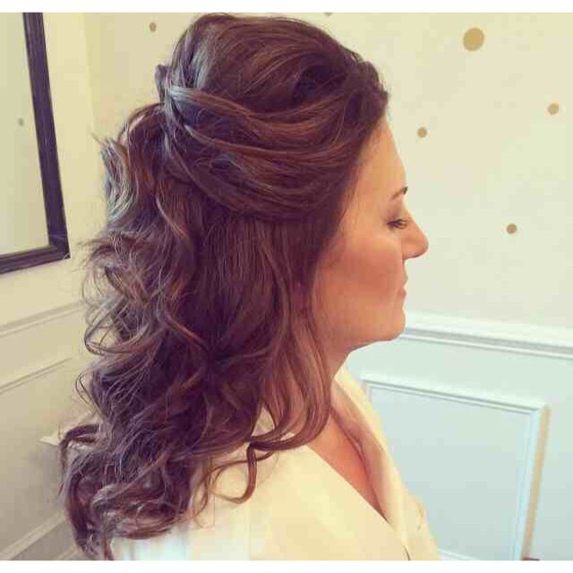 at the weekend i did my first ever bride hair