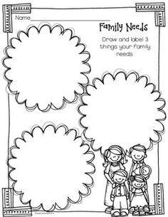 my family kindergarten worksheet - Google Search
