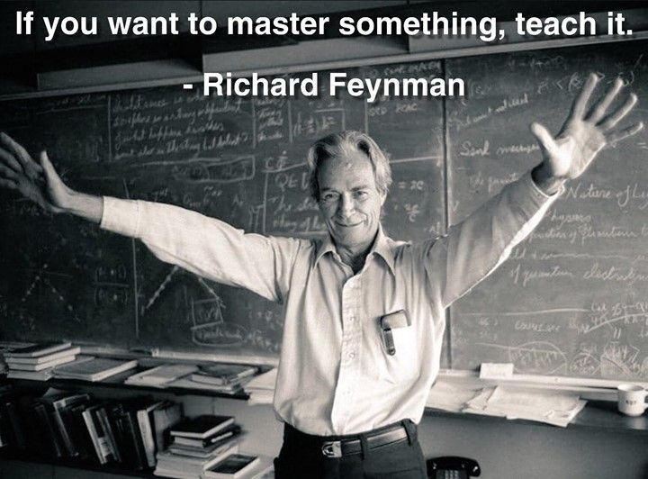 If You Want To Master Something Teach It Richard Feynman Weisheiten Spruche Bildung