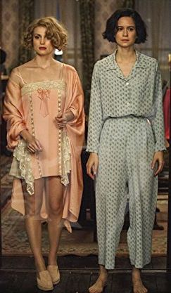 Queenie and Tina in pajamas from 'Fantastic Beasts and Where To Find Them' (2016). Costume Designer: Colleen Atwood.