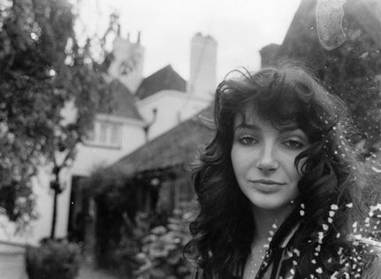 """Picture of Kate Bush. She and her lyrics are just so beautiful.     """"The stars are caught in our hair...The stars are on our fingers...A veil of diamond dust...Just reach up and touch it...""""  —Aerial (2005)"""