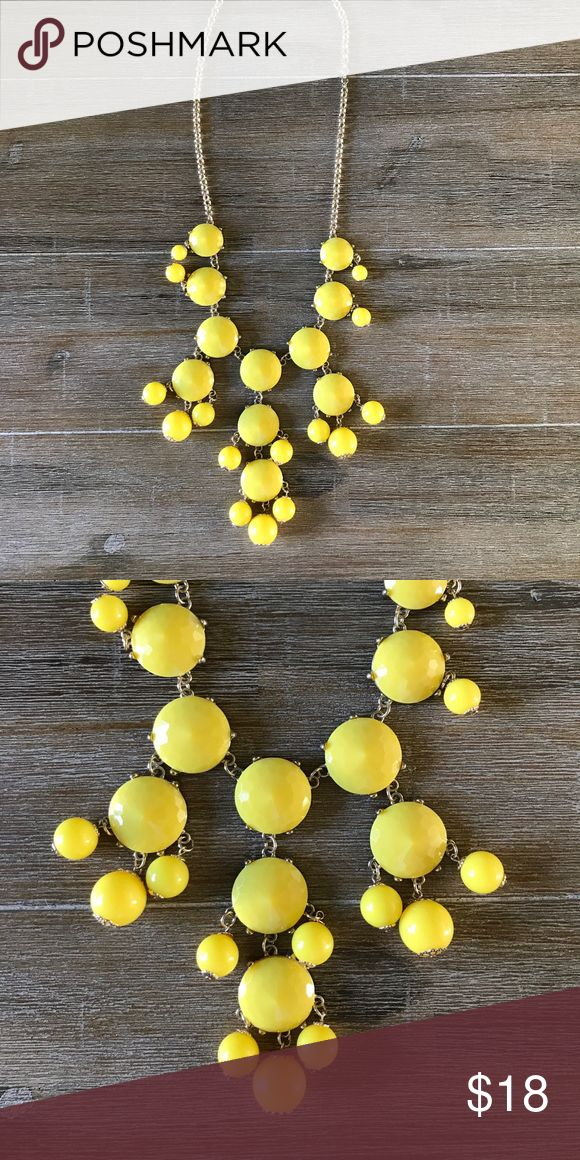 Yellow Bubble Statement Necklace This yellow bubble necklace is certain to brighten any outfit and day! Don't miss this classic and iconic bubble necklace. Jewelry Necklaces