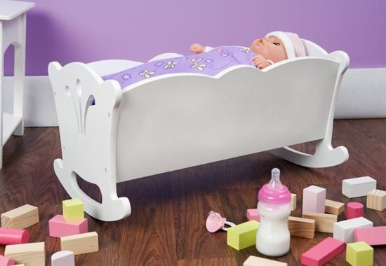 Wooden Doll Cradle Great For All Lee Middleton Dolls Or