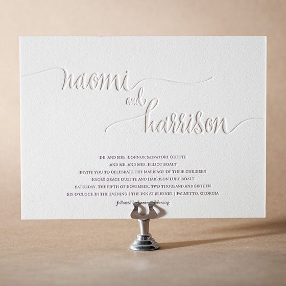 simple but elegant. Colette Letterpress Invitation Design Small