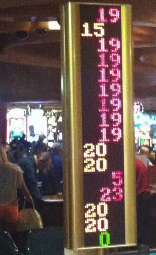 Lucky bets on the roulette wheel