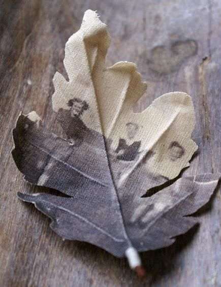 wearable old photographs printed onto fabric are by Dutch artist Miranda van Dijk