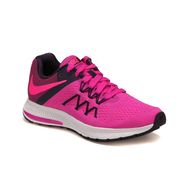 Nike ZOOM WINFLO 3 Pembe Kadın Koşu Ayakkabısı - Spor Ayakkabı - Kadın