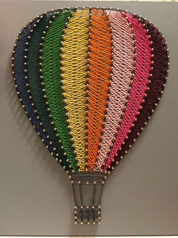 Hot Air Balloon String Art