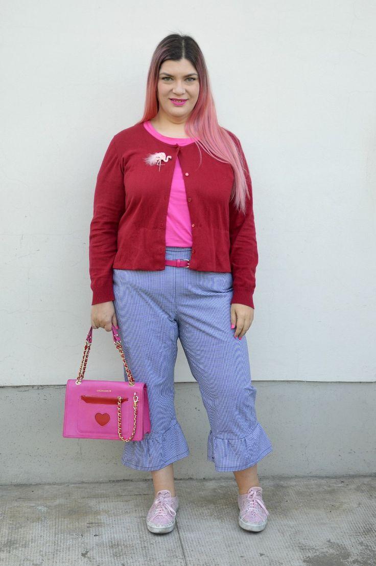 Realizzazione di un progetto e outfit: pantaloni vicky con frappa | Plus... Kawaii! - A plus size fashion blog #plussize #outfit #gingham #vichy