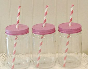 Plastic Mason Jars, 15 Mason Jars with Lids, UNBREAKABLE Party Drink Jars…