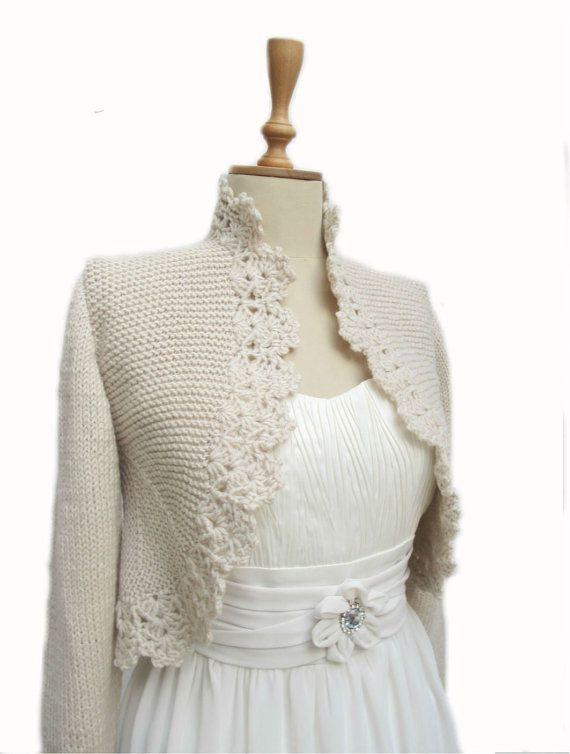 Knitting Cardigan Hand Knitted Sweater Crochet Border Jacket   Etsy