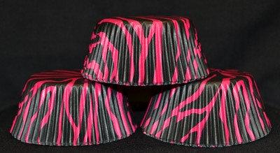 Hot Pink Zebra Print Cupcake Liners by Wilton