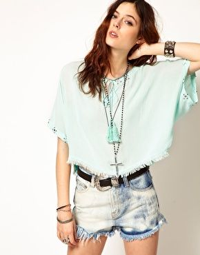 Enlarge Somedays Lovin Dreamlover Kaftan Top With Mirror Embroidery