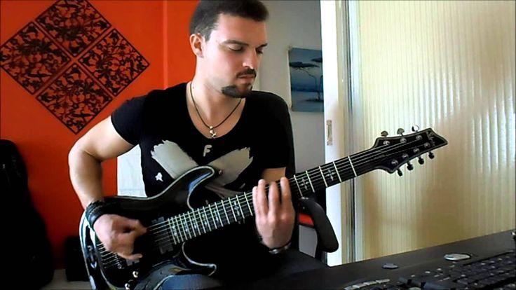 betrayal:kostas fotiou playing over with schecter hellraiser c7