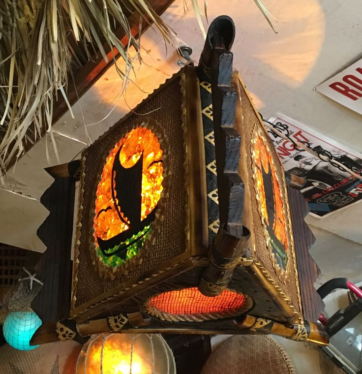 73 Best Tiki Lamps I've Made Images On Pinterest