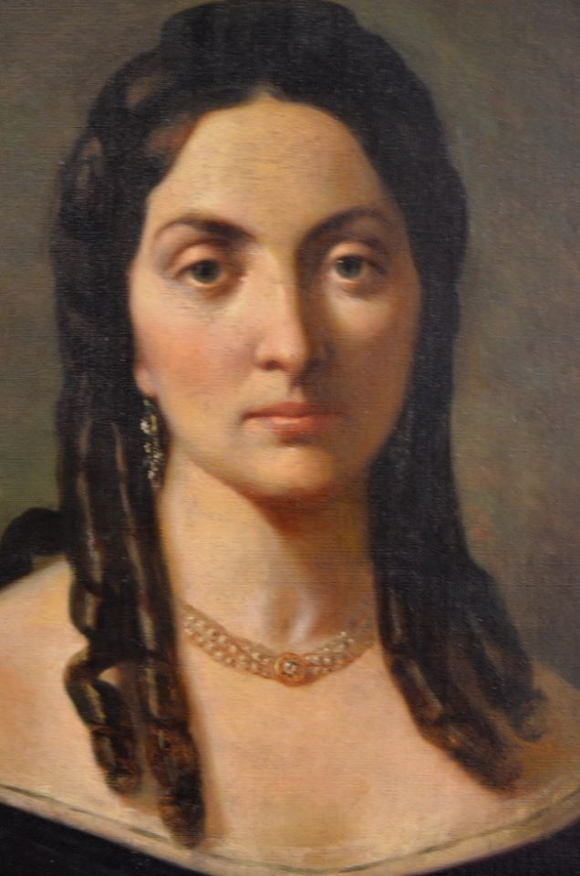 Theodor Aman - Portretul Anei Davila