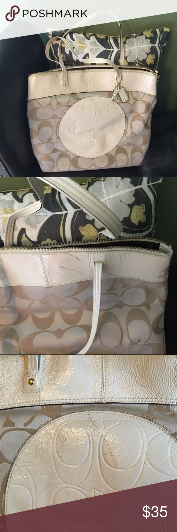 Coach tote bag Coach tote bag with scuffing. Authentic Coach Coach Bags Totes