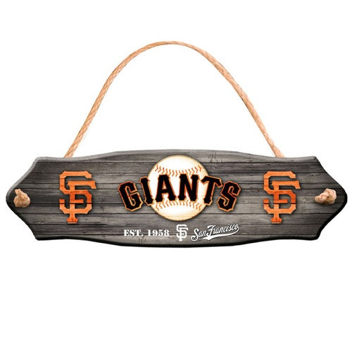 "MLB - San Francisco Giants 20""x5"" Wooden Garden Sign"
