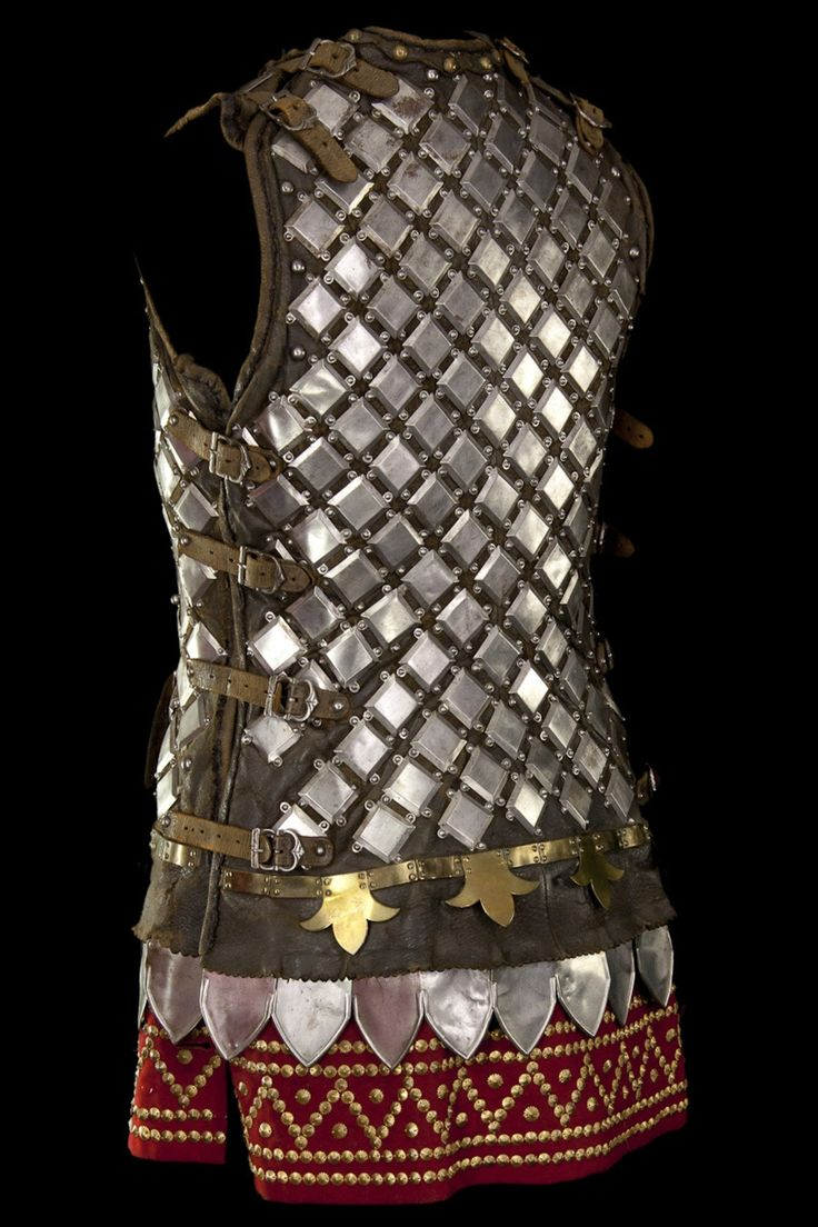 """Studded or plated leather armour. Little metal plates riveted onto leather backing. Could be quite effective against slashing. Or as we call it here, """"Destičková zbroj"""" - """"tablet armour"""""""