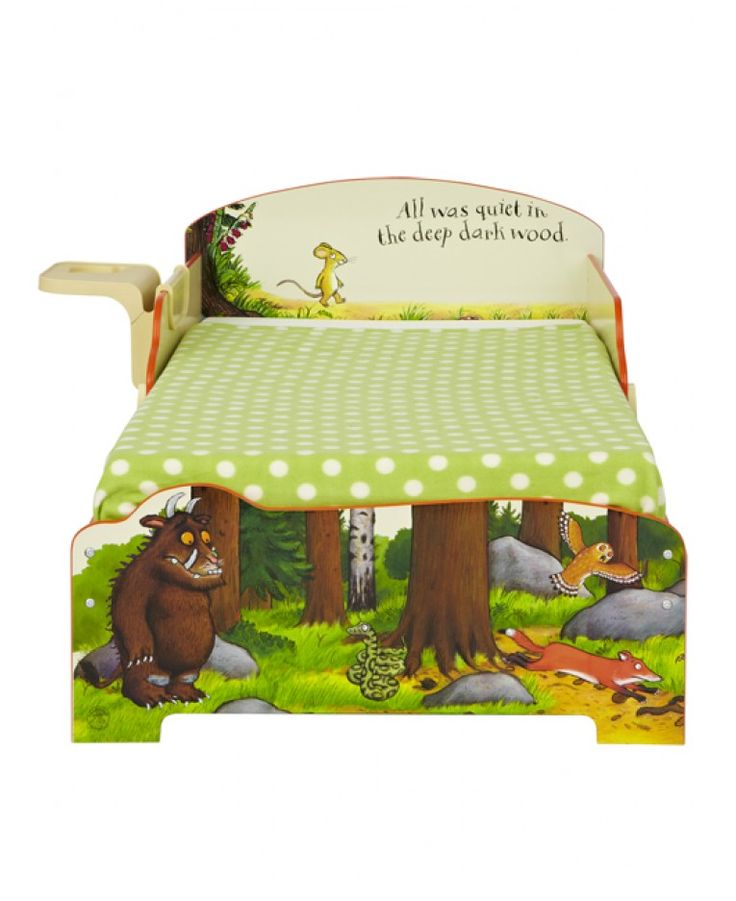This delightful toddler bed will make going to bed your child's favourite part of the day! All was quiet...hopefully!