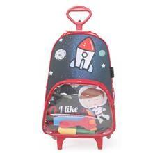 Uma mochila com rodinhas linda e descolada. A Mochila Astronauta com Rodinha é diferente e perfeita para a criançada que é cheia de atitude.