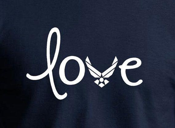 Air Force Love - Perfect shirt to support the Air force Airmen in your life. support the troops by sporting this lovely shirt