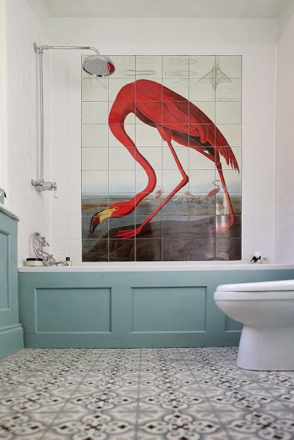 To da loos: The flamingo bathroom: