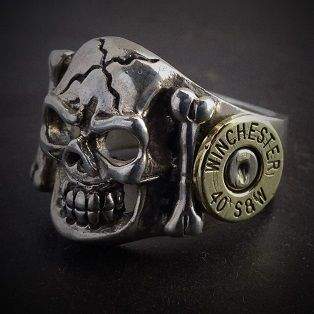 Bullet Jewelry by JECTZ® - Skull Sterling Silver Bullet Ring, $114.95 (http://www.jectz.com/skull-sterling-silver-bullet-ring/)