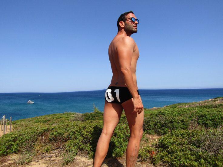 Swimsuit Giorgio Armani summer in Sicilia