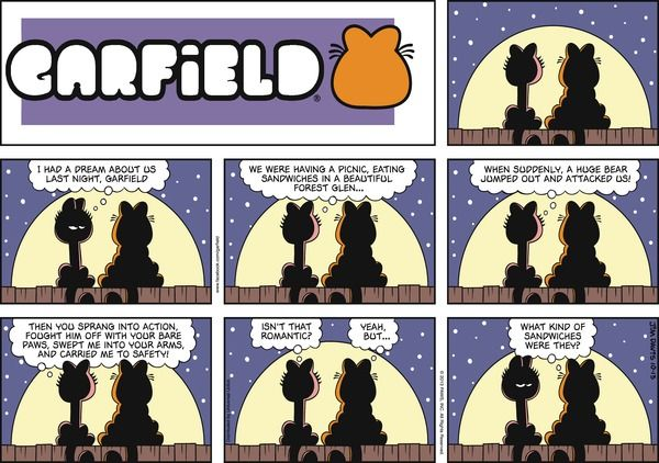 Garfield Cartoon for Oct/13/2013........what kind of sandwiches were they? ... ha ha ha